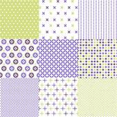 Nahtlose Muster mit Stoff Textur — Stockvektor