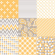 Seamless patterns with fabric texture — Stock Vector #25944019