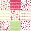 Seamless patterns with fabric texture — Stock Vector #28569667