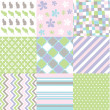 Seamless patterns with fabric texture — Stock Vector #28569671