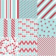 Seamless patterns with fabric texture — Stock Vector #28569729