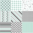 Seamless patterns with fabric texture — Stock Vector #28569777