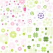 Floral pattern set — Stock Vector