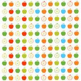 Apples Seamless Pattern — Stock Vector