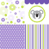 Baby pattern set — Stock Vector