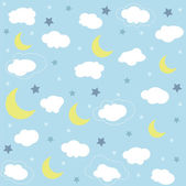 Seamless baby pattern, wallpaper — Stock Vector