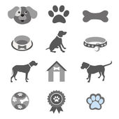 Pet icons set — Stock Vector