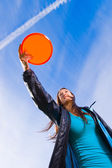 Disc and open sky — Stock Photo