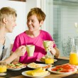 Breakfast moment — Stock Photo