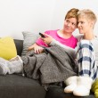 Stock Photo: Together on sofa