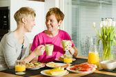 Breakfast moment — Stock Photo