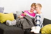 Together on sofa — Stock Photo