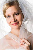 Bride and veil — Stock Photo