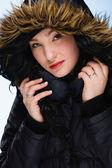 Girl with hood — Stock Photo
