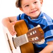 Stock Photo: Boy and guitar