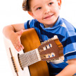 图库照片: Boy and guitar