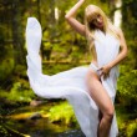 Fairy like woman — Stock Photo