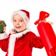 Boy and Christmas gift — Stock Photo #34999807