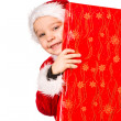 Boy and Christmas gift — Stock Photo #35029527