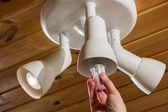 Bulb change — Stock Photo