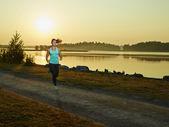 Sporty fitness woman — Stock Photo