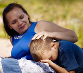 Mother's comforts — Stock Photo