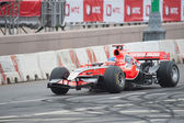 Charles Pic of Marussia F1 Racing at Moscow City Racing 2012 — Stock Photo