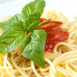 Spaghetti with tomatoes — Stock Photo #12686796