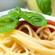 Spaghetti with tomatoes — Stock Photo #12686798
