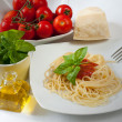 Spaghetti with tomatoes — Stock Photo #12686842