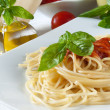 Spaghetti with tomatoes — Stock Photo #12686896