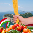 Stock Photo: Spaghetti and tomatoes