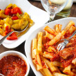 Neapolitan lunch — Stock Photo