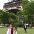 Wedding in paris — Stock Photo