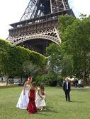 Wedding in paris — Stok fotoğraf