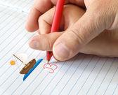 Ayudar a escribir — Foto de Stock