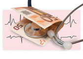 Health banknote — Stock Photo