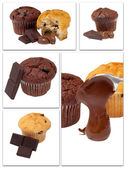 Mix chocholate muffins — Stock Photo