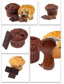 Mix chocholate muffiny — Stock fotografie