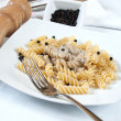 Fusilli and mushroom cream — Lizenzfreies Foto