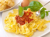 Homemade pasta bolognese — Stock Photo