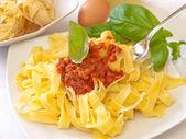 Hemlagad pasta bolognese — Stockfoto
