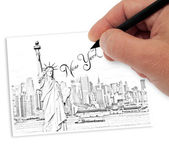 Tekening new york — Stockfoto