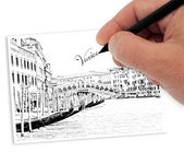 Drawning venice — Stock Photo