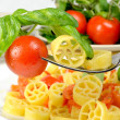 Wheels of pasta with fresh tomatoes — Foto Stock