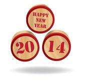 新的一年 2014 — 图库照片