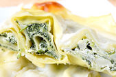 Lasagne besciamella — Foto Stock