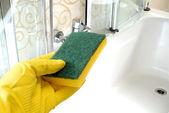 Baño de limpieza — Foto de Stock