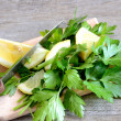 Lemon and parsley — Stock Photo
