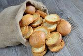 在袋中面包 freselle — 图库照片